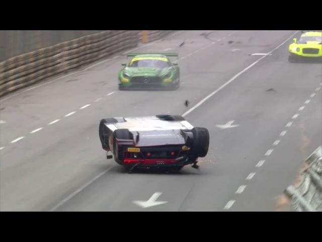 FIA GT World Cup Macau, Vanthoor's massive airborne