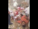 لحظة انفجار مسجد الروضة بئر العبد بالعريش