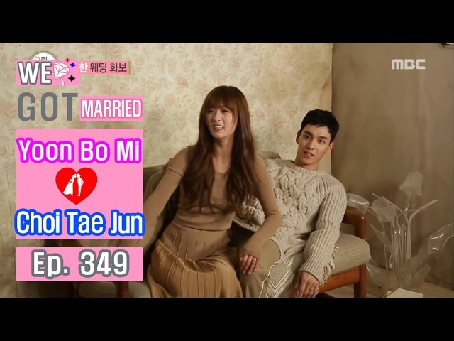 [We got Married4] 우리 결혼했어요 - Choi Tae-joon ♥ Yoon Bomi's awkward photo pose! 20161126