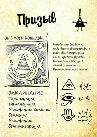 Страницы дневника гравити фолз на русском фото