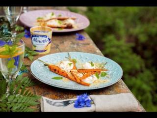 Печеная морковка с кремом из Almette