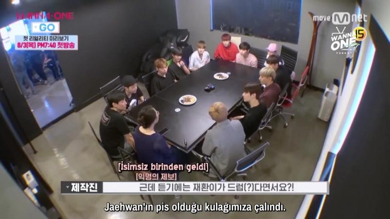 170725 Wanna One GO! Realite Şovu İçin İlk Görüşme (Türkçe Altyazılı)