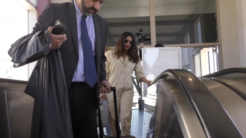 Priyanka Chopra talks about guys wearing rombers while arriving at LAX Airport in Los Angeles