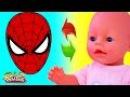 Куклы Пупсики СТАЛИ Человек-паук Лепим МАСКИ из пластилина Плей До Пупсики в МАСКАХ Игры для девочек