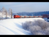 Passenger train rides from East to West. Russian trains