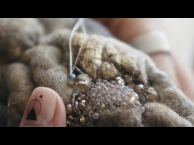 Diana Nagorna. Felting embroidery. Войлочный браслет с авторской вышивкой.