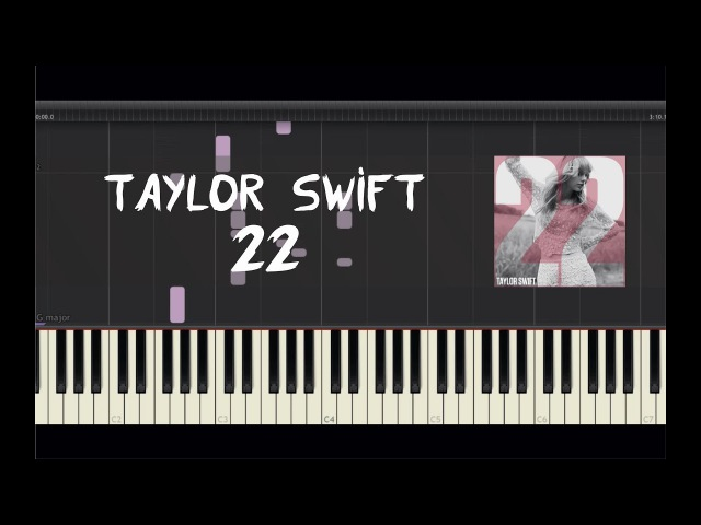 Taylor Swift - 22 - Piano Tutorial by Amadeus (Synthesia)