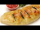How to make healthy kale and cheese roll stromboli.