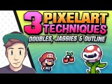 3 PixelArt TechniquesCommon Mistakes (Doubles, Jaggies &amp Outline) (Tutorial for Beginners)