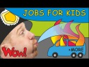 Jobs for Kids with Steve and Maggie | MORE Magic Stories for Children | Speak with Wow English TV