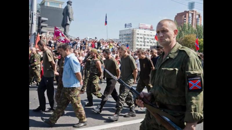 сравниваем военнопленных: март 1944, Москва и август 2014, Донецк.