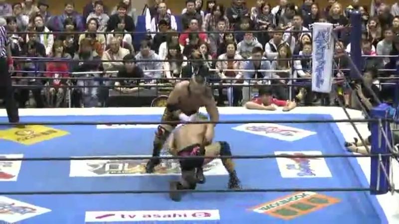 NJPW World Tag League 2014 | ЭйДжей Стайлз и Юджиро Такахаши пр. Хиройоши Тензана и Сатоши Коджими (матч блока А)