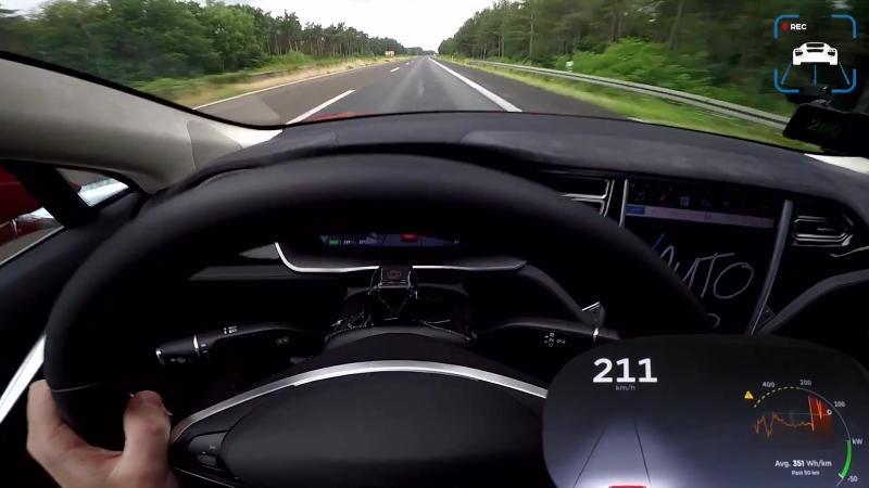 Tesla Model S P100D LUDICROUS AUTOBAHN POV Drive