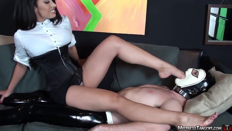Mistress Tangent Footgagging trampling foot worship smelling fetish feet smother domination slave licking sniffing femdom