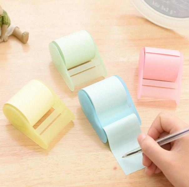 Мини блокнот в виде рулона туалетной бумаги )  https://ru.aliexpress.com/store/product/2015-Kawaii-Mini-Memo-Pad-Planner-Sticker-Cute-Sticky-Notes-Creative-Can-Tear-Scratchpad-to-do/1957002_32550734197.html?detailNewVersion=&categoryId=211104