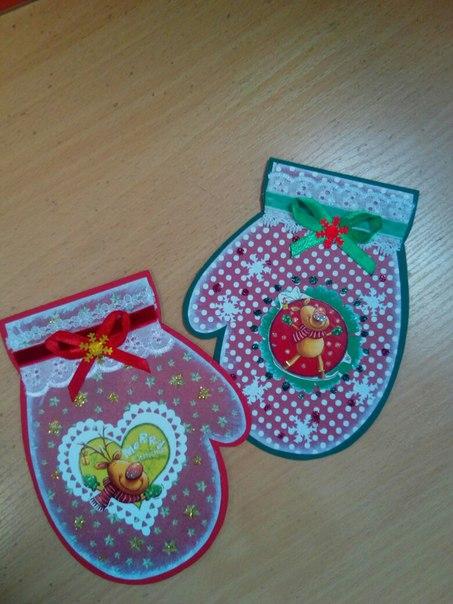 Новогодние сувенирчики и прелестные открыточки