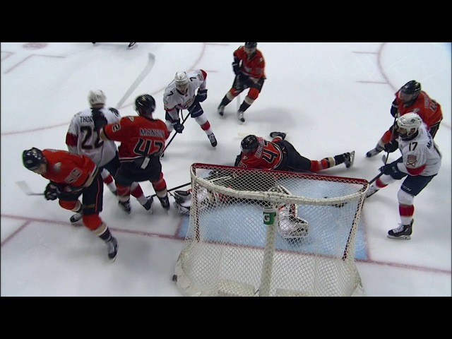 Gibson's pad does all the work to keep several chances out of the net