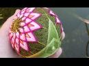 Темари Цветок Лотоса вышивка трилистника Митсубане Кикку