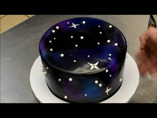 ( https://vk.com/lakomkavk) How to make a Galaxy Theme Birthday Cake - Simple & Easy Technique