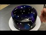 (https://vk.com/lakomkavk)  How to make a Galaxy Theme Birthday Cake - Simple & Easy Technique