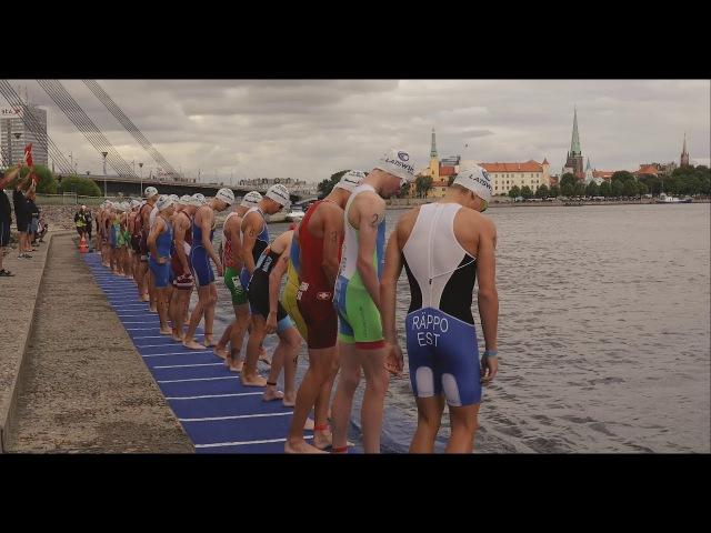 Rīgas triatlons 2017. Riga ETU Triathlon Junior European Cup