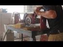 Как обработать на водяном плиткорезе внутренний радиус шамотного кирпича
