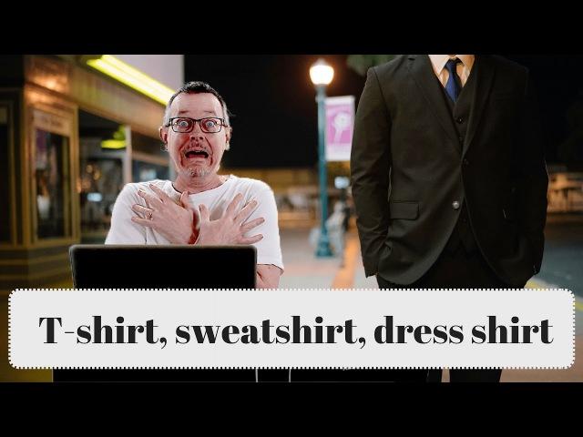 Learn English: Daily Easy English 1140: T-shirt, sweatshirt, dress shirt