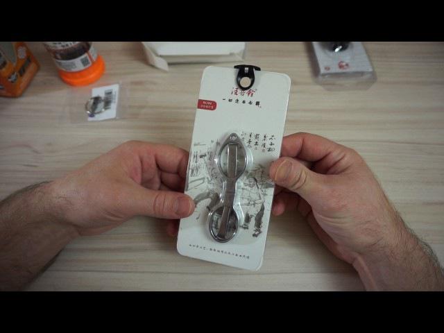 Посылка из Китая №48 Kemei KM 600 JAKEMY JM 8117 складные ножницы Edc