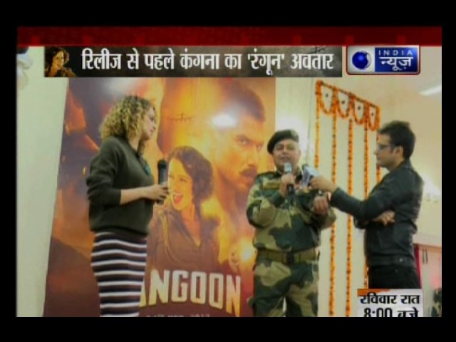 India News Exclusive: Kangana Ranaut celebrates Rangoon with BSF jawans in Jammu