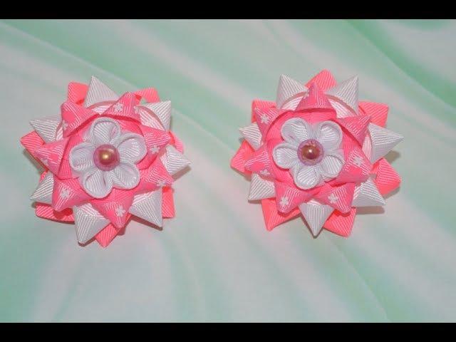 Бантики звездочки на шаблоне/Bows stars on the template DIY
