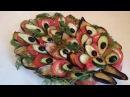 Вкусный салат из баклажанов Рецепт Павлиний хвост приготовим праздничные холод