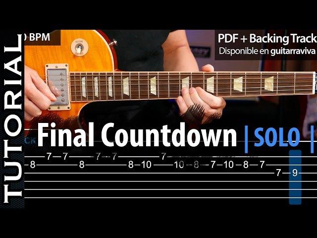 Cómo tocar el SOLO de THE FINAL COUNTDOWN guitarraviva (épico)