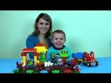 Развивающее видео Lego трактор и ферма с животными - детский канал Носики Курносики