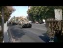 Мариуполь. 4 сентября, 2014. Колонна БТР Украины выезжает из города.