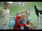 Виталик и Милана у зубного на осмотре