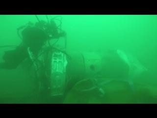 Опубликовано видео обследования водолазами обломков Ту-154