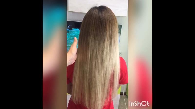 Трессовое наращивание южнорусских волос 50 см 100 гр