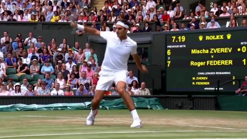 Federer Top 3 Points @ Wimbledon 2017