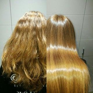 Кератиновое выпрямление волос в уфе обучение