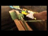 Этап подготовки дизайн-шпон Tabu- пропаривание древесины.