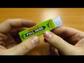 Жвачка шокер для приколов из Китая. Shock chewing gum