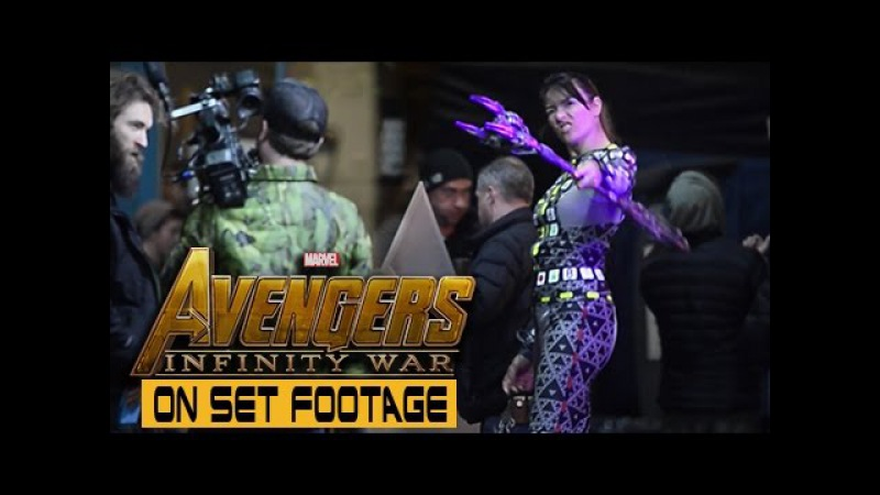 Avengers Infinity War ON SET FOOTAGE Scarlet Witch Action Scene