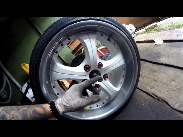 Часть 3. Широкое автомобильное колесо на мотоцикл днепр. Чоппер днепр.