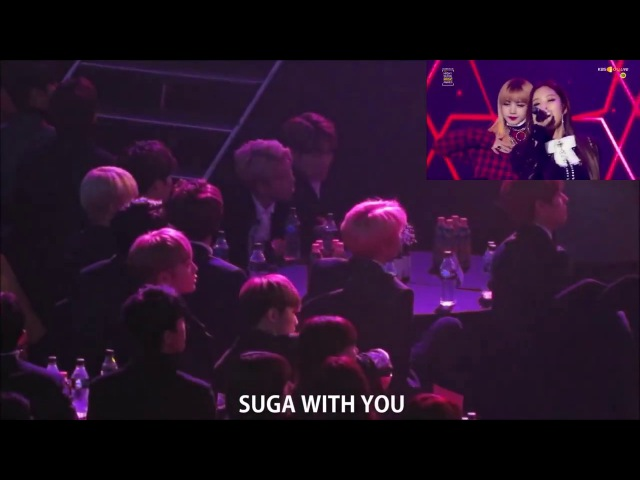 170119 BTS Reaction to BLACKPINK 불장난붐바야 @ SMA