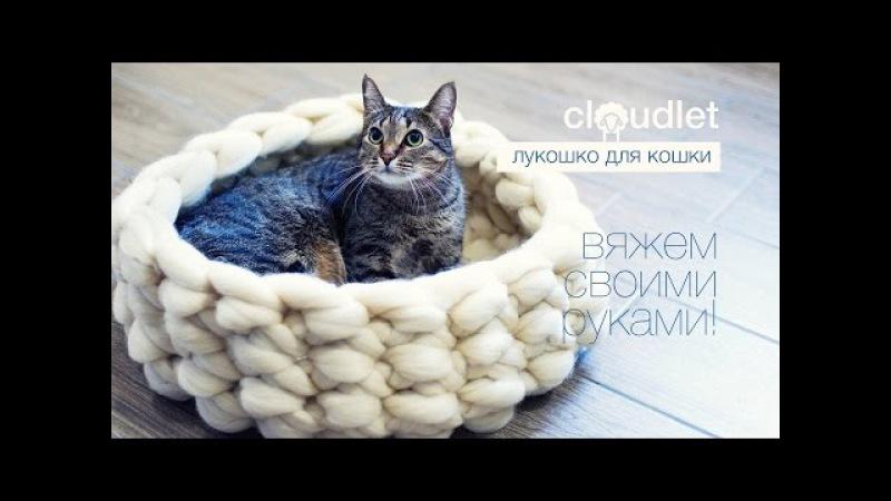 Лукошко для кошки - вяжем своими руками | CLOUDLET