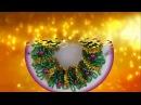 Рождественский веночек магнитик из бисера