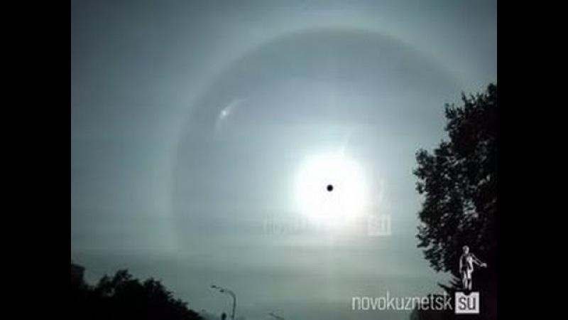 Как вдруг исчезла голограмма Луны с купола Плоской Земли в небе над Кировом