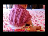 How to knit K7, YO, SSKPO, YO