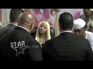 Nicki Minaj attends a CD signing for fans at Best Buy in Harlem, NY