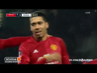 Манчестер Юнайтед - Уиган Атлетик 2:0. Крис Смоллинг